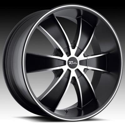 RACELINE WHEELS  151M CARTEL BLACK RIM with MACHINED ACCENTS