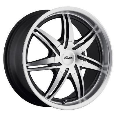 PACER WHEELS  773MB MANTIS GLOSS BLACK RIM with DIAMOND CUT FACE