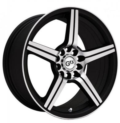 SPECIAL BUY WHEELS  GFX WHEELS G50 GLOSS BLACK SILVER MACHINED FACE