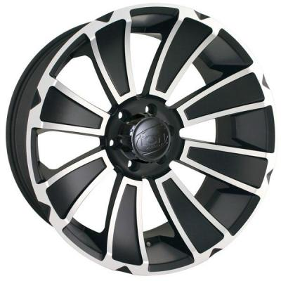 ION ALLOY WHEELS  TYPE 180 MATTE BLACK RIM with MACHINED FACE