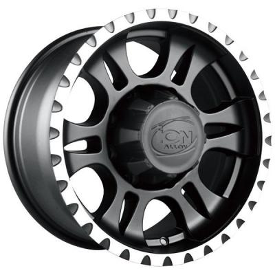 ION ALLOY WHEELS  TYPE 195 MATTE BLACK RIM with MACHINED LIP