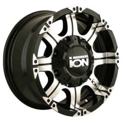 ION ALLOY WHEELS  TYPE 187 BLACK RIM with MACHINED FACE and LIP