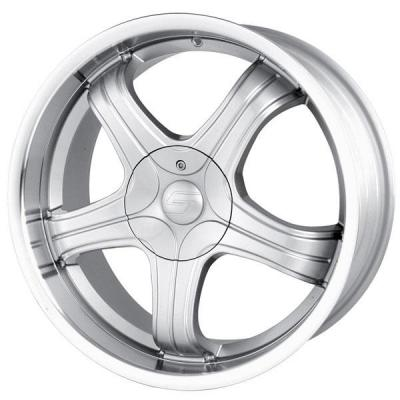 SACCHI WHEELS  S22 HYPERSILVER RIM with MACHINED LIP