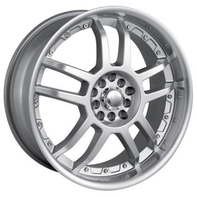AKITA RACING WHEELS  AK15 HYPERSILVER RIM with MACHINED LIP