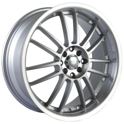 AKITA RACING WHEELS  AK25 HYPERSILVER RIM with MACHINED LIP and HUB