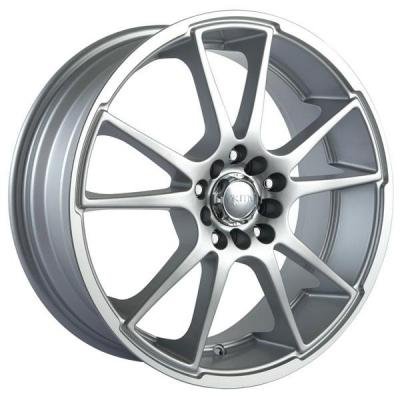 AKITA RACING WHEELS  AK35 HYPERSILVER RIM with MACHINED LIP