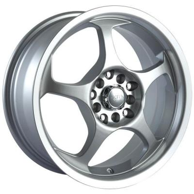 AKITA RACING WHEELS  AK90 HYPERSILVER RIM with MACHINED LIP and HUB