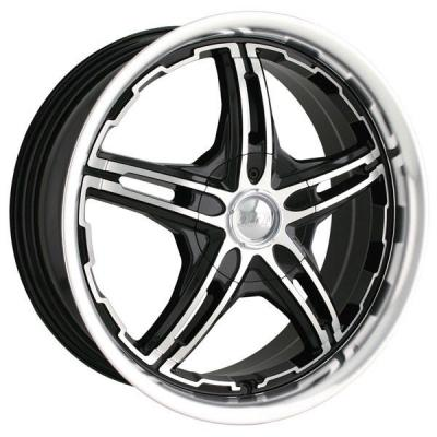 MPW WHEELS  MP109 BLACK RIM with MACHINED FACE and LIP
