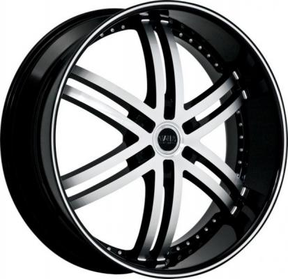 STATUS ALLOYS  KNIGHT 6 GLOSS BLACK MACHINED FACE