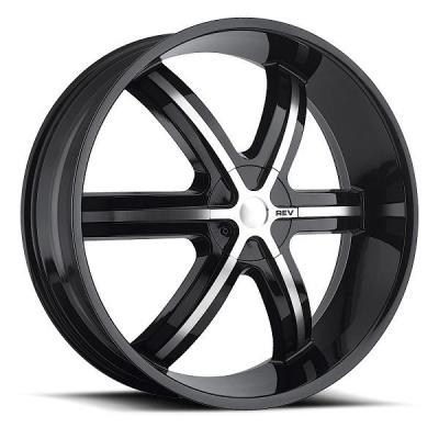 REV WHEELS  RWD 959 BLACK MACHINED