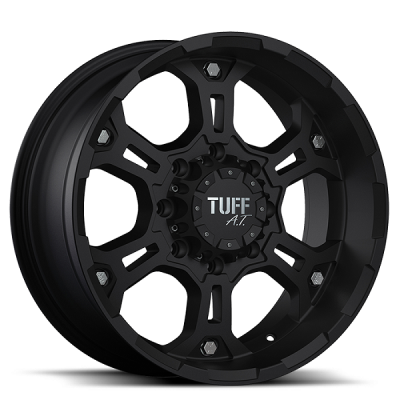 TUFF A.T. WHEELS  T03 FLAT BLACK