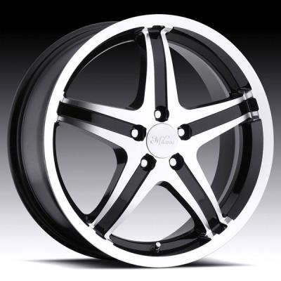 MILANNI WHEELS  KOOL WHIP-5 446 FWD GLOSS BLACK RIM with MACHINED FACE