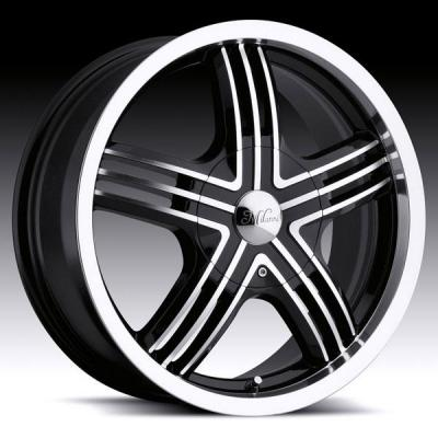 MILANNI WHEELS  STEALTH 461 FWD GLOSS BLACK RIM with MACHINED FACE
