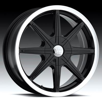VISION WHEELS  KRYPTONITE 378 FWD GLOSS BLACK RIM