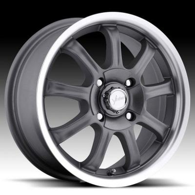 VISION WHEELS  9X 424 FWD GUNMETAL RIM with MACHINED LIP