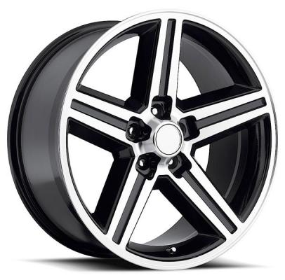 REV WHEELS  CLASSIC 652 IROC BLACK RIM with MACHINED FACE
