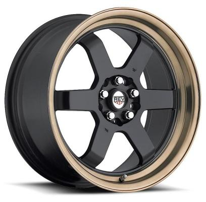 REV WHEELS  FWD 269 BLACK RIM with BRONZE LIP
