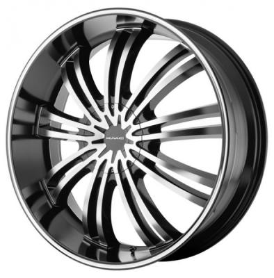 KMC WHEELS  KM682 SPIDER GLOSS BLACK RIM with MACHINED FACE