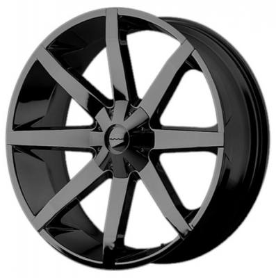 KMC WHEELS  KM651 SLIDE GLOSS BLACK RIM