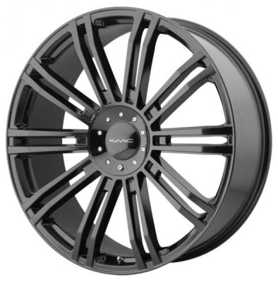 KMC WHEELS  KM677 D2 GLOSS BLACK RIM