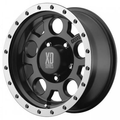 XD SERIES WHEELS  XD125 MATTE BLACK RIM with MACHINED BEAD RING