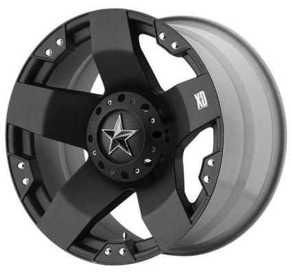 XD SERIES WHEELS  XD775 ROCKSTAR MATTE BLACK RIM