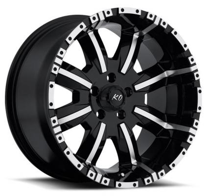 REV WHEELS  OFFROAD 808 DIRTY HARRY BLACK/MACHINED RIM
