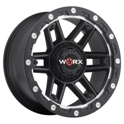 WORX WHEELS  804 TANK SATIN BLACK RIM with SPOT MILLING