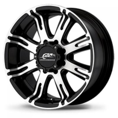 AMERICAN RACING WHEELS  AR708 MATTE BLACK RIM with MACHINED FACE