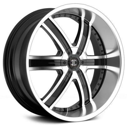 2 CRAVE WHEELS  2 CRAVE N04 BLACK/MACHINED LIP RIM