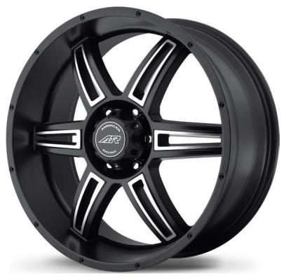 AMERICAN RACING WHEELS  AR890 SATIN BLACK RIM with MACHINED FACE