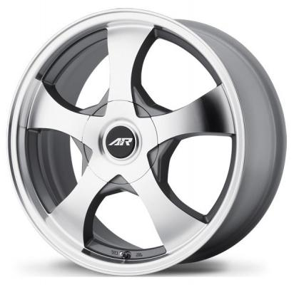 AMERICAN RACING WHEELS  AR895 DARK SILVER RIM with MACHINED FACE