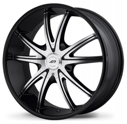 AMERICAN RACING WHEELS  AR897 GLOSS BLACK RIM with MACHINED FACE