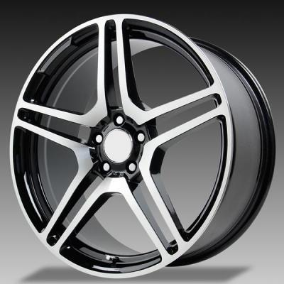 WHEEL REPLICAS WHEELS  V1174 CL65 GUNMETAL RIM with MACHINED FACE