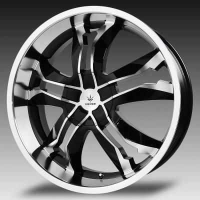VERDE WHEELS - OCT. SALE!  JAGGEDGE GLOSS BLACK RIM with MACHINED FACE and LIP