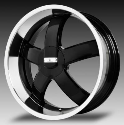VERDE WHEELS  SKYLON BLACK RIM with MACHINED LIP