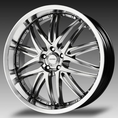 VERDE WHEELS - OCT. SALE!  KAOS HYPER SILVER RIM with MACHINED LIP