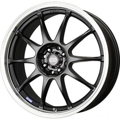 ENKEI WHEELS  J10 MATTE BLACK WHEEL WITH MACHINED LIP