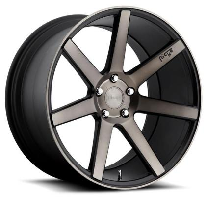 NICHE WHEELS  VERONA M150 BLACK RIM with MACHINED FACE DDT