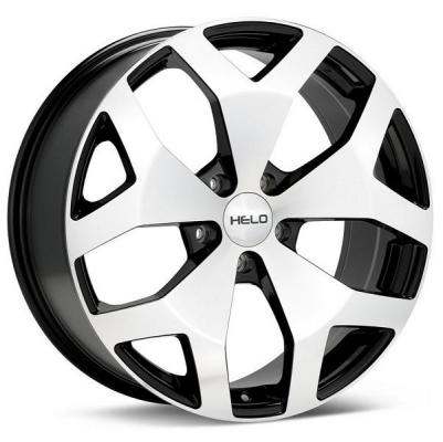 HELO WHEELS  HE881 BLACK RIM with MACHINED FACE