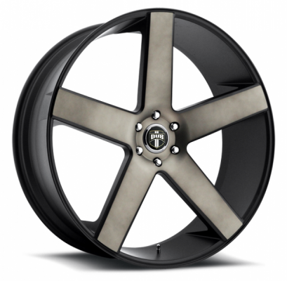 DUB WHEELS  BALLER S116 BLACK RIM with MACHINED FACE DDT