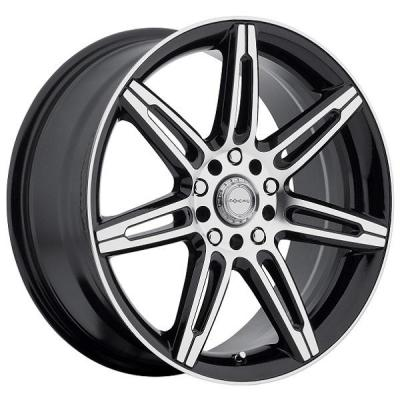 FOCAL WHEELS  F07 430 GLOSS BLACK RIM with DIAMOND CUT ACCENTS
