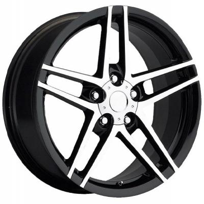 FACTORY REPRODUCTIONS WHEELS  CORVETTE C6 Z06 BLACK RIM with MACHINED FACE