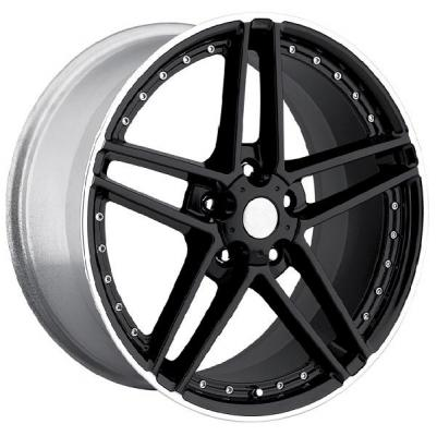 FACTORY REPRODUCTIONS WHEELS  CORVETTE C6 MOTORSPORT Z06 BLACK RIM with MACHINED LIP