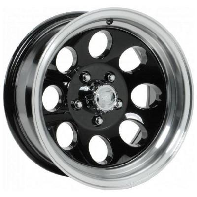 ION ALLOY WHEELS  TYPE 171 BLACK RIM with MACHINED LIP