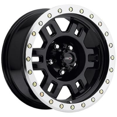 VISION WHEELS   MANX 398 RWD OFF-ROAD GLOSS BLACK RIM with MACHINED LIP