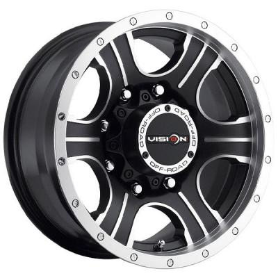 VISION WHEELS   ASSASSIN 396 RWD OFF-ROAD MATTE BLACK RIM with MACHINED FACE