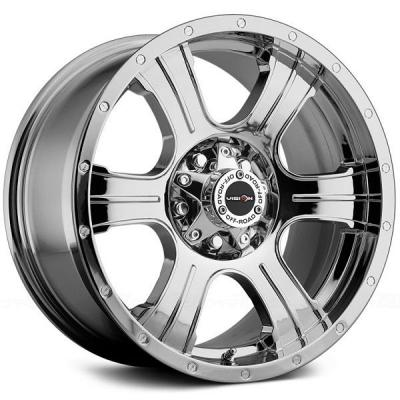 V-TEC WHEELS  ASSASSIN 396 RWD PHANTOM CHROME RIM