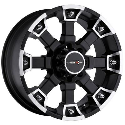 VISION WHEELS   BRUTAL 392 RWD OFF-ROAD MATTE BLACK RIM with MACHINED FACE