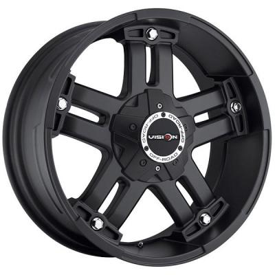 VISION WHEELS   WARLORD 394 RWD OFF-ROAD MATTE BLACK RIM with COVERED CAP
